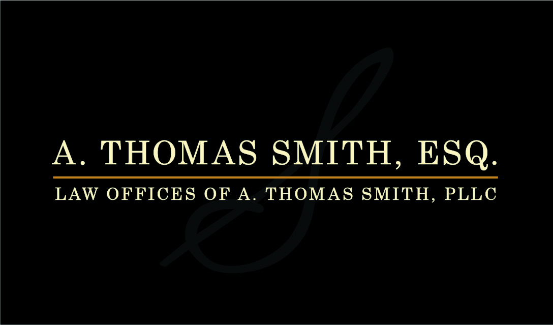 Law Offices of A. Thomas Smith, Esq. PLLC business card February 2017