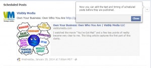 Facebook Fan Page: View Activity Log