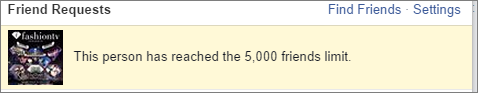 Facebook friend limit 5000