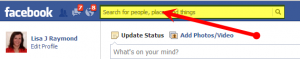 Facebook search box
