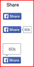 Facebook share link button samples
