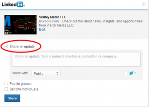 LinkedIn Company Page: Sharing to LinkedIn profile updates
