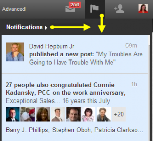 LinkedIn option: hide notifications