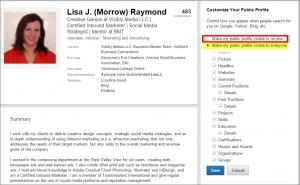 Make LinkedIn profile private, step 3