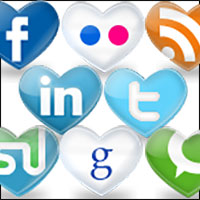 social media hearts