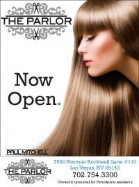 The Parlor Las Vegas quarter page ad, courtesy of Lion Tree Communications