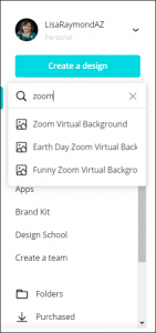 Visibly Media Marketing search canva for zoom background template design