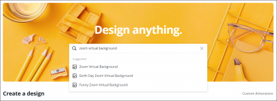 Visibly Media Marketing search canva for template design