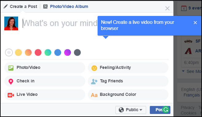 Visibly Media   Facebook Live   from Chrome browser