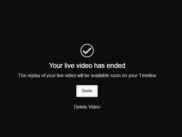 Visibly Media   Facebook Live   live video broadcast ended