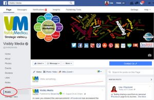 Facebook, sharing personal profile post to page3, Visibly Media LLC