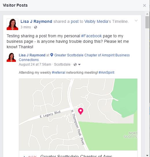 Facebook, sharing page visitor posts1, Visibly Media