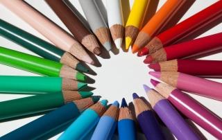 Visibly Media graphic design colored pencils
