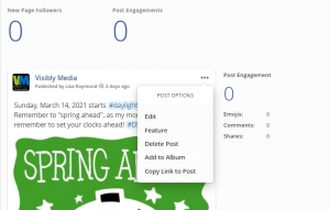 Visibly Media understanding mewe page analytics new followers edit post