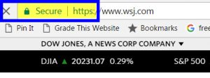 """Example of Google's """"Not Secure"""" label for sites missing SSL certificate"""